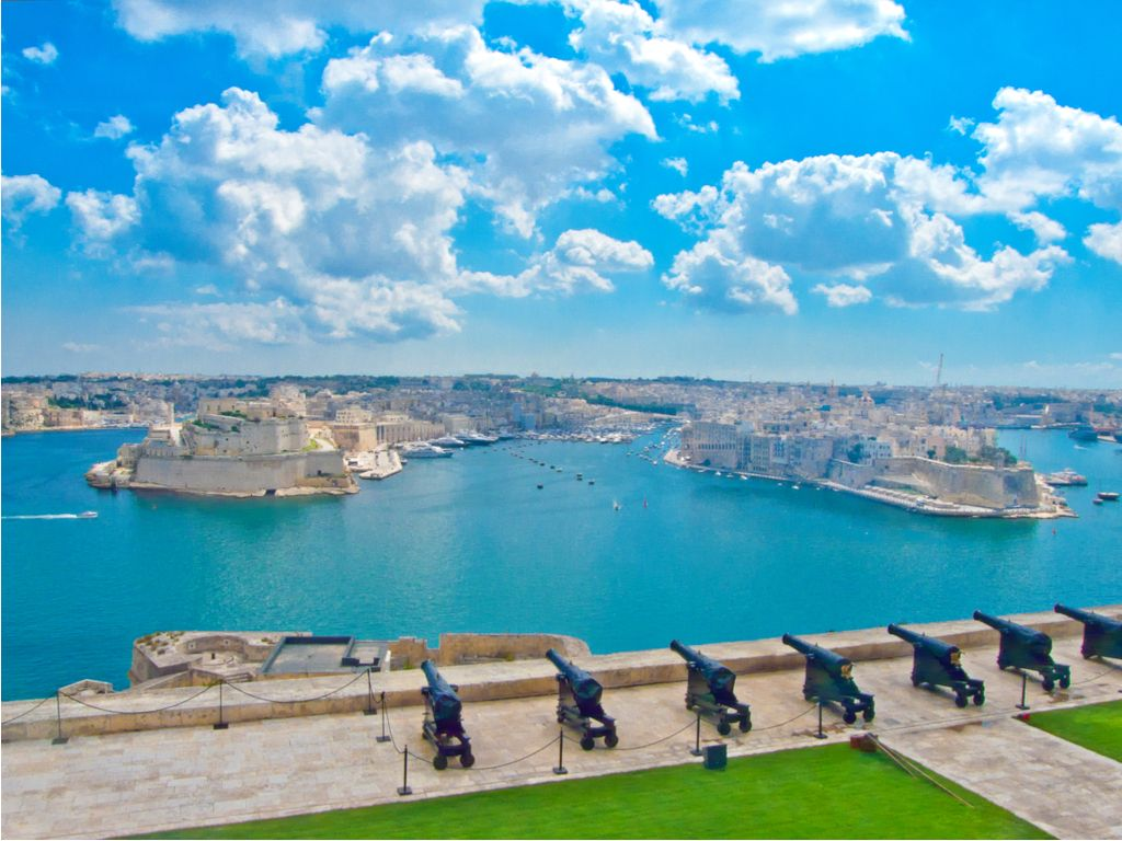 The Saluting Battery of Valletta