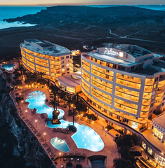 Azure Malta Instagram Golden sands at night
